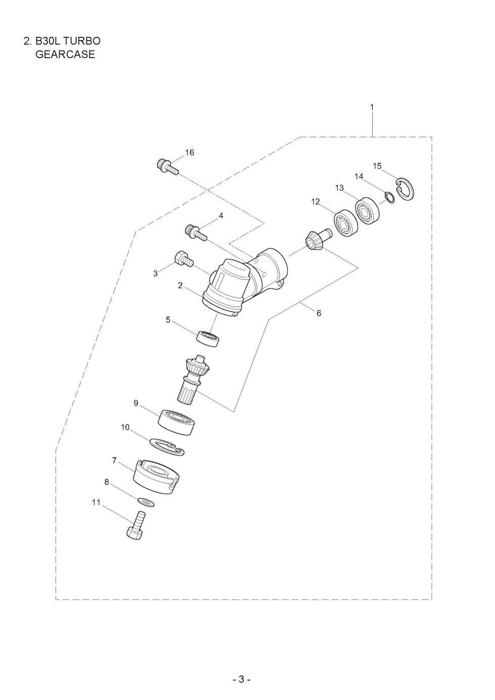 Maruyama Parts Lookup - B30L TURBO Parts Diagrams B30L TURBO