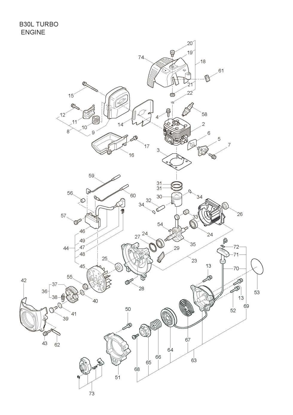 Maruyama Parts Lookup B30l Turbo Diagrams Accessories Katana Engine Diagram Carburetor Fuel Tank